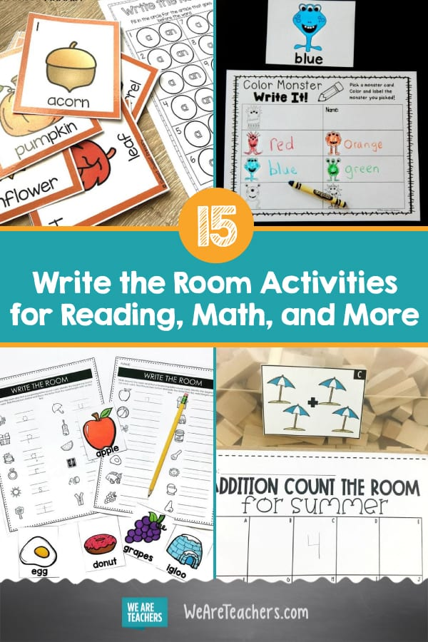 15 Write the Room Activities for Reading, Math, and More