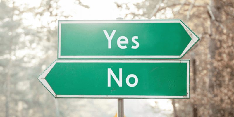 Yes and No Street Signs