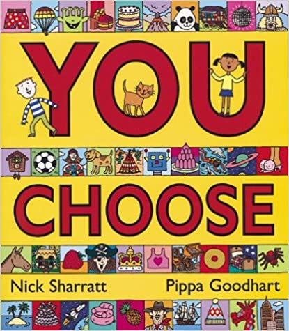 Four book covers from the You Choose series of books for kids