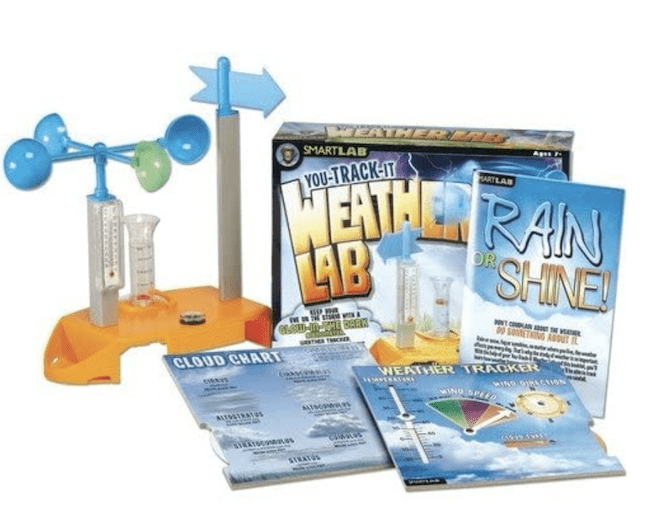 A kit kids can use to track weather patterns