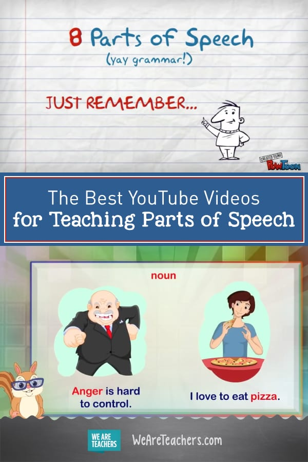The Best YouTube Videos for Teaching Parts of Speech