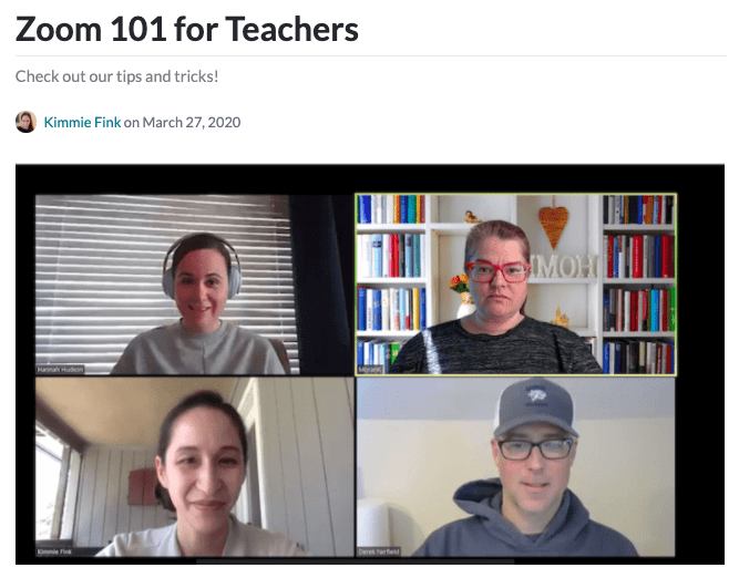 Zoom 101 for teachers header -- top 2020 stories