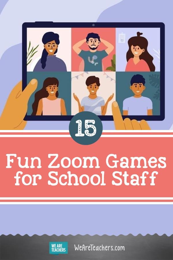 15 Fun Zoom Games for School Staff