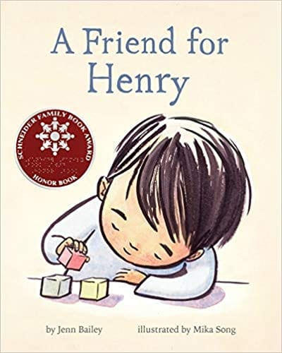 Book cover for A Friend for Henry as an example of children's books that teach social skills