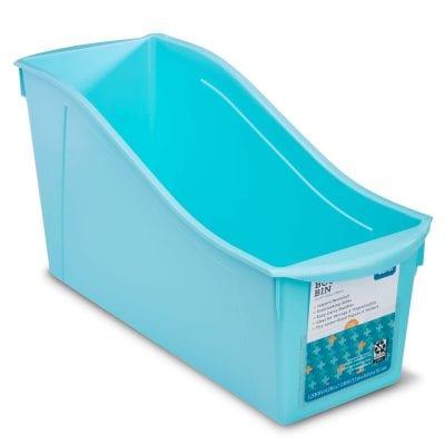 Large blue book bin.