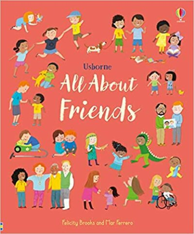 Book cover for All About Friends as an example of children's books about friendship
