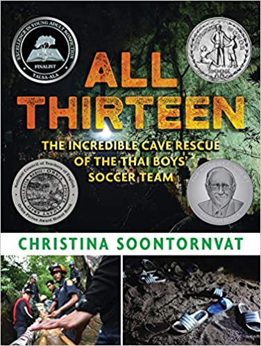Book cover for All Thirteen: The Incredible Cave Rescue of the Thai Boys Soccer Team