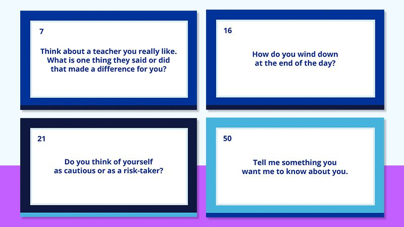 Questions to Ask Middle and High School Kids
