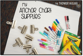 My anchor chart supplies.