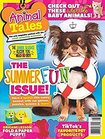 Sample issue of Animal Tales magazine as an example of best magazines for kids