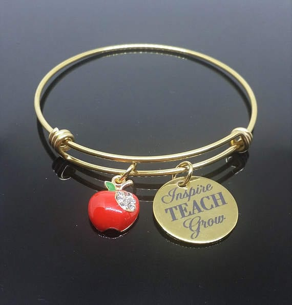 teacher jewelry-apple bracelet