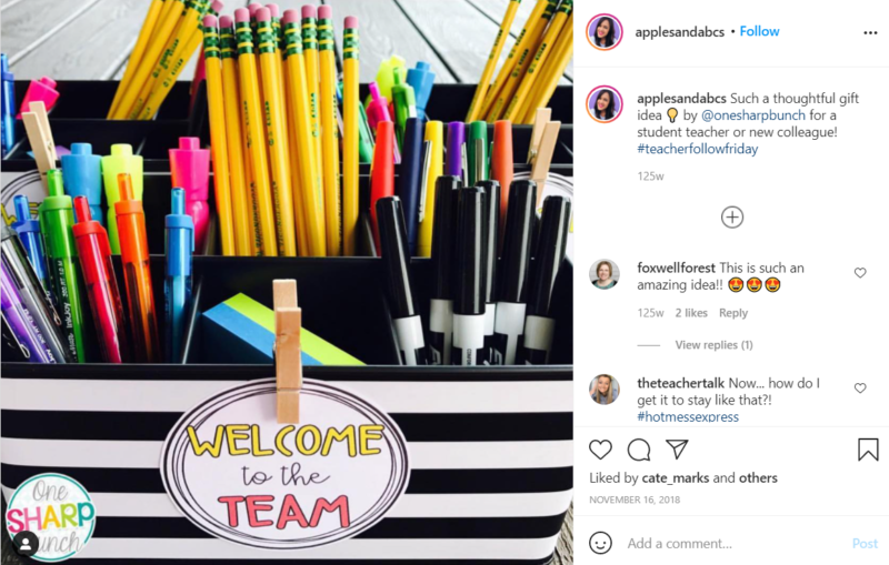Still of pencils and pens gifts for teachers applesandabcs Instagram post