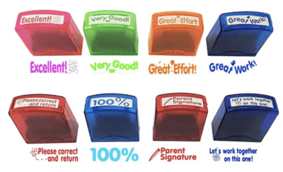 Assorted teacher stamp set