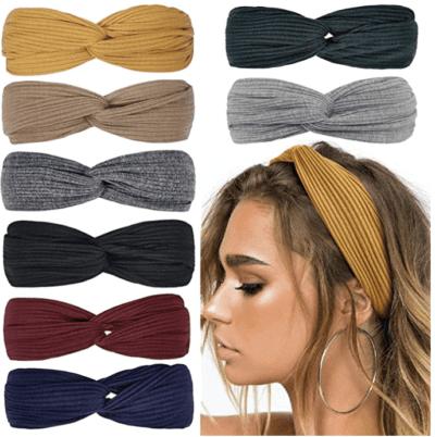 Assorted colored tie headbands