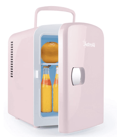 AstroAL mini fridge cooler and warmer in pink
