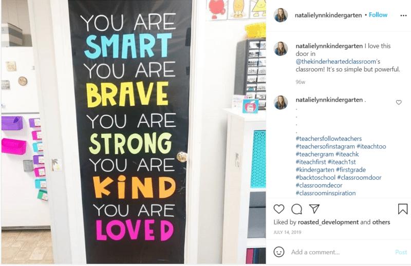 Still of positive energy classroom door idea