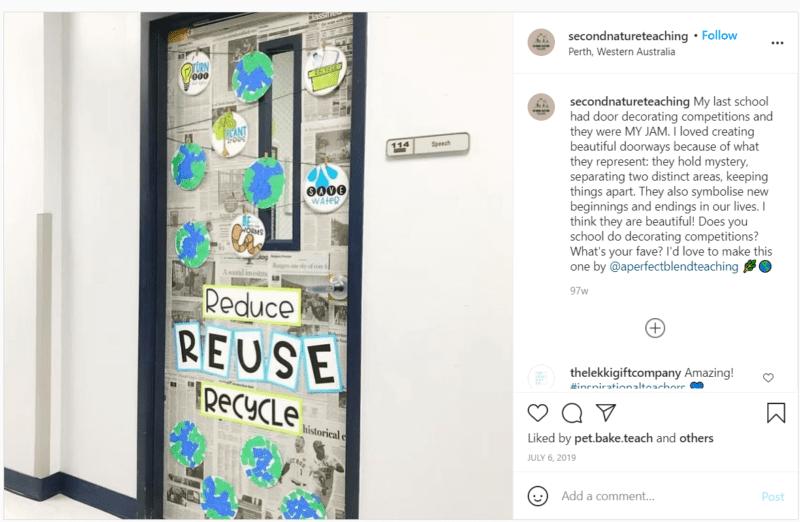 Still of sustainability classroom door idea