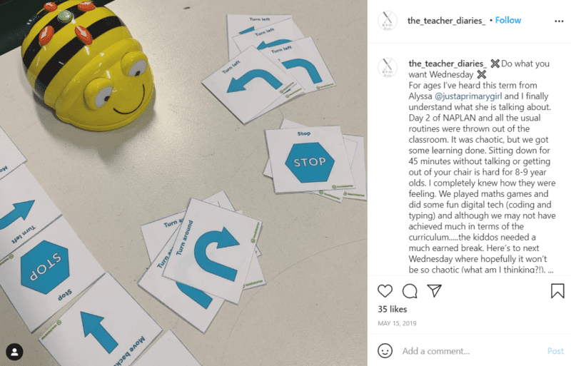 Still of awesome tools for teaching robotics like Bee-Bots from Instagram