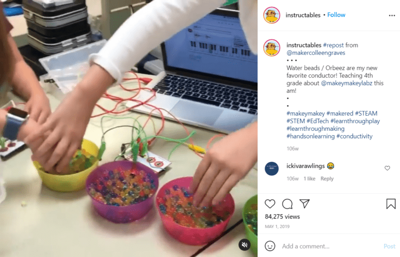 Still of awesome tools for teaching robotics like Makey Makey from Instagram