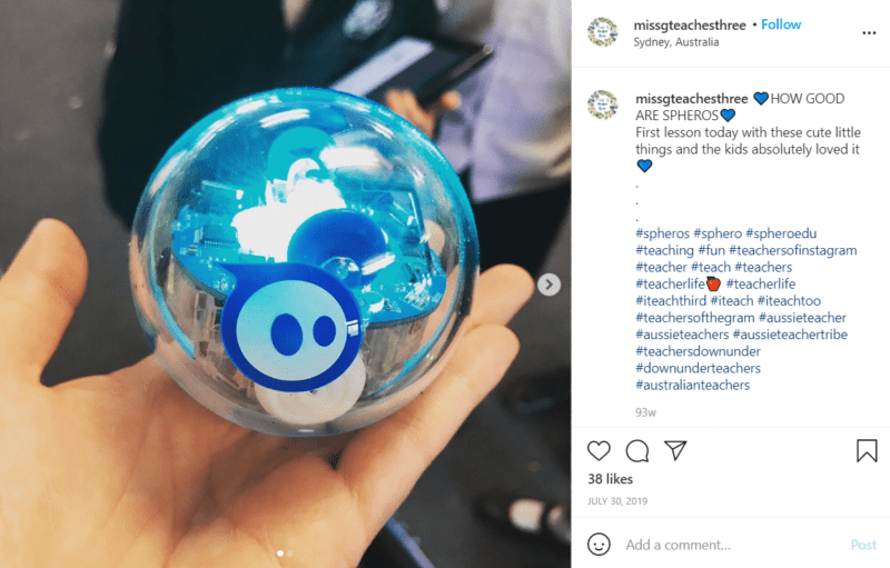 Still of awesome tools for teaching robotics like Spheros from Instagram
