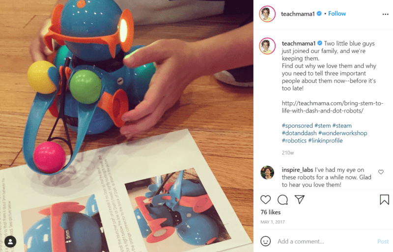 Still of awesome tools for teaching robotics like Dot and Dash Robots from Instagram