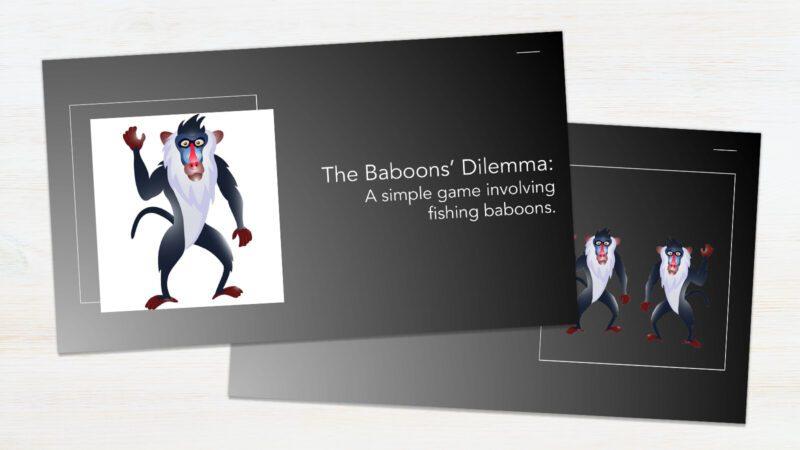 Screenshot of The Baboons' Dilemma mini-lesson