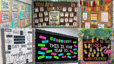 Back to school bulletin board ideas collage