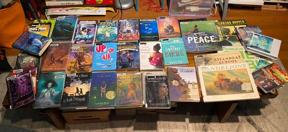Various children's books laid out on a table (Bargain Shopping Guide)