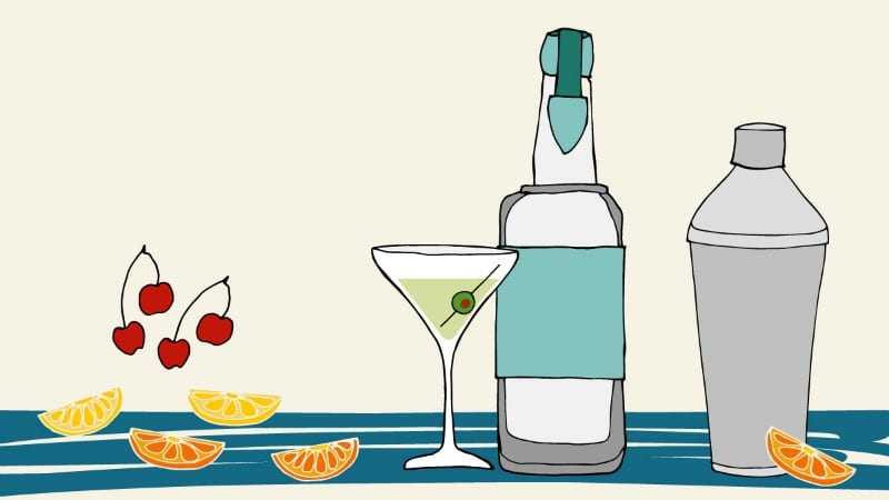 Illustrated bartender