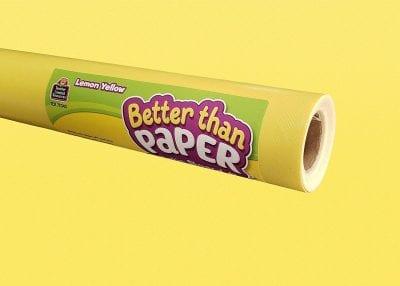 """Yellow """"Better than paper"""" bulletin paper -- 1st grade classroom supplies"""