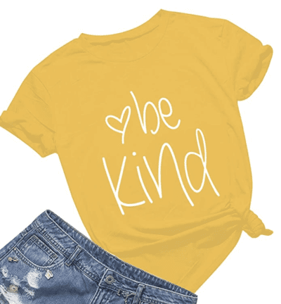 Be kind yellow t-shirt