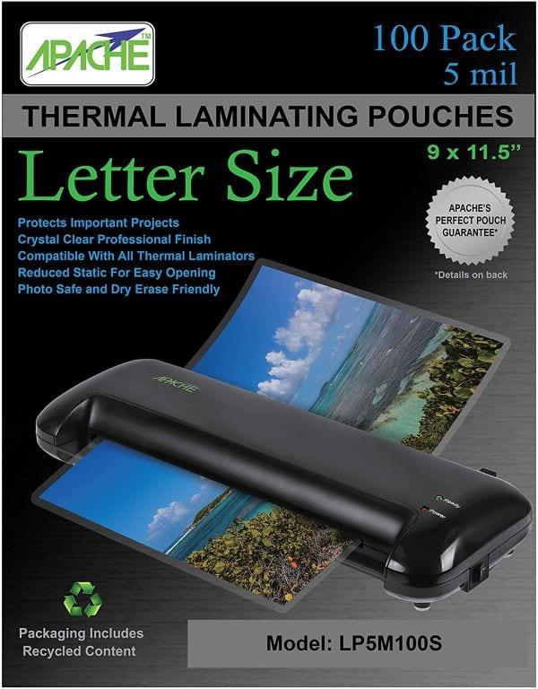 Apache 5 mil laminating pouches (Best Laminating Pouches)