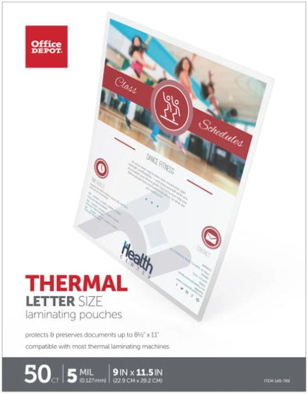 Office Depot 5 Mil Laminating Pouches