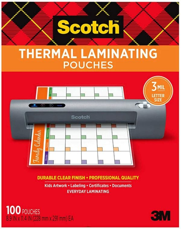Scotch Thermal Laminating Pouches, Letter Size