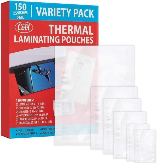 Simply Cool Laminating Pouches Variety Pack (Best Laminating Pouches)