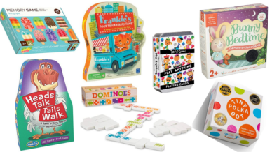 Collage of best preschool card games and board games for the classroom