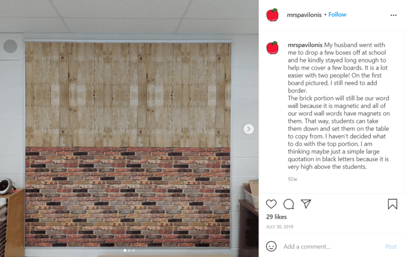 Still of better than paper can be used with two patterns on one wall from Instagram