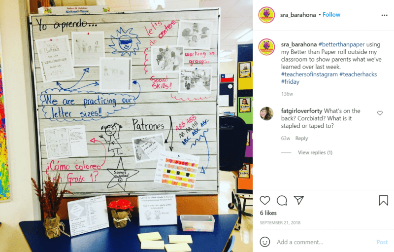 Still of better than paper even has dry erase surface from Instagram