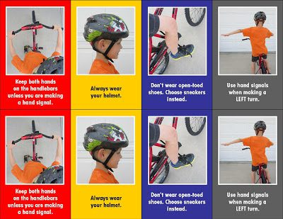 Playing cards that teach kids bike safety skills