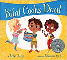 Book cover for Bilal Cooks Daal example of nutrition books for kids