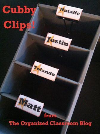 binder clips to label shelves