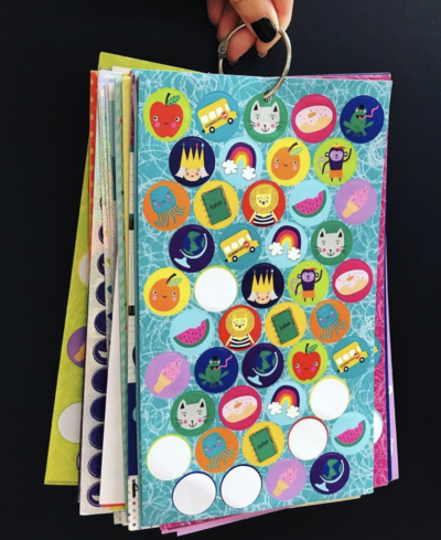 Binder rings on sticker papers