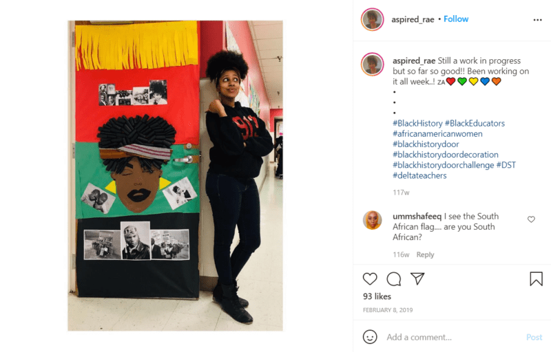 Still of black history month doors are a work in progress from Instagram