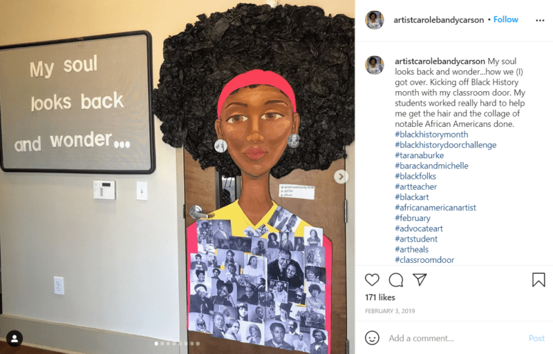 Still of black history month doors can be thought provoking from Instagram