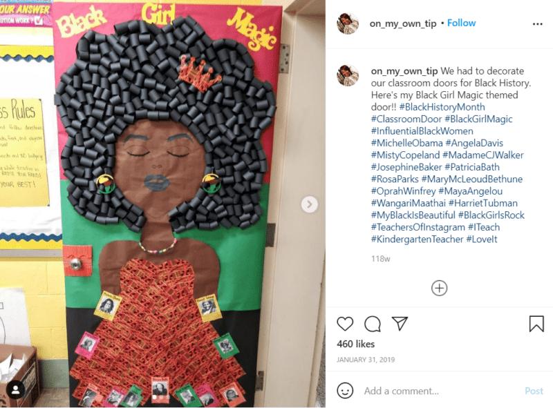 Still of black history month doors show black girl magic
