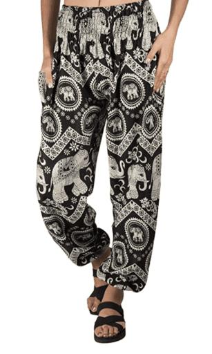 Boho elephant joggers