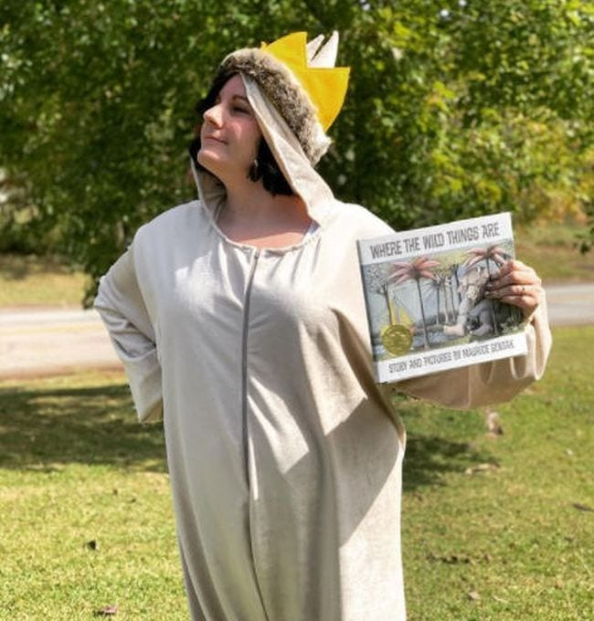 Woman dressed as Max from Where The Wild Things Are