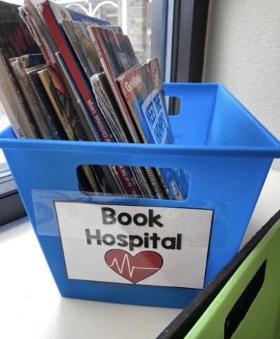 Book hospital bin