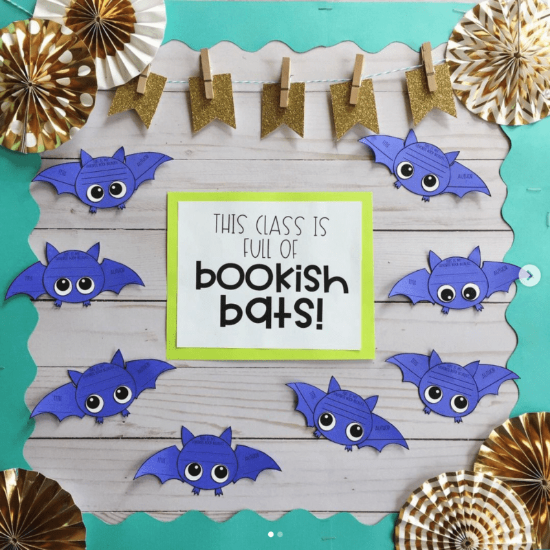 Bookish for Bats Halloween bulletin boards