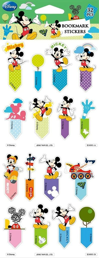 Disney Bookmark post-it memo flag index tag sticky notes 96 stickers